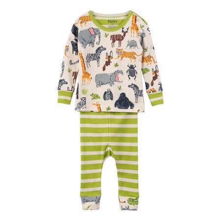 Babies Jungle Animal Pyjamas Green