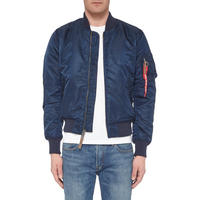 Zip-Through Bomber Jacket Navy