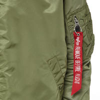 MA-1 Zip-Through Bomber Jacket Green