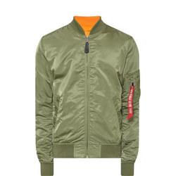 MA-1 Zip-Through Bomber Jacket Green