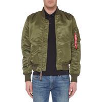 Zip-Through Bomber Jacket Green