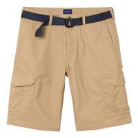 Belted Cargo Shorts Beige