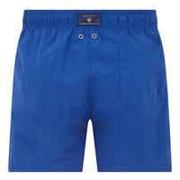 Basic Solid Swim Shorts Dark Blue
