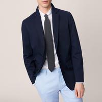 Cotton Twill Blazer Navy