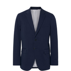 Cotton Twill Blazer Navy