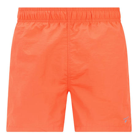 Basic Solid Swim Shorts Orange