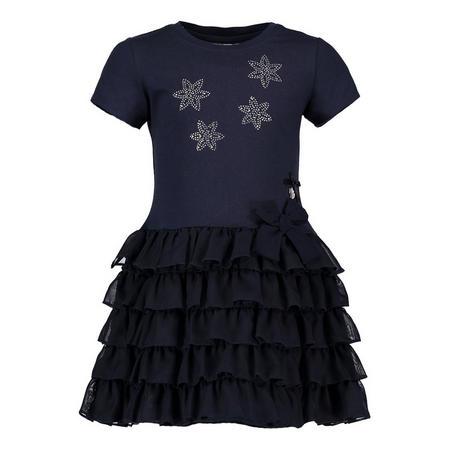 Ruffle Star Dress Navy