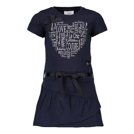Graphic Heart Dress Navy