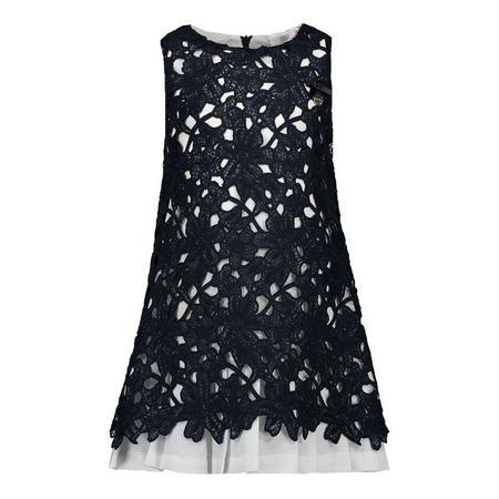 Sleeveless Lace Dress Navy