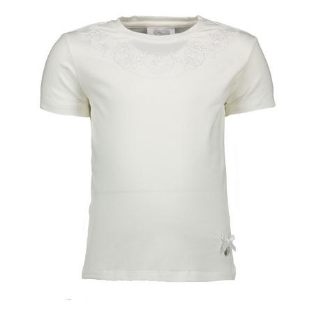 Flower Embroidered T-Shirt White