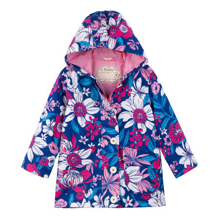 Girls Flower Jacket Purple