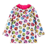 Girls Ladybird Coat Multicolour