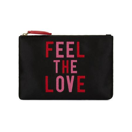 Feel The Love Top Zip Wallet Black