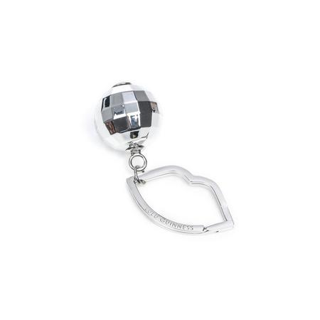 Discoball Keyring Silver-Tone