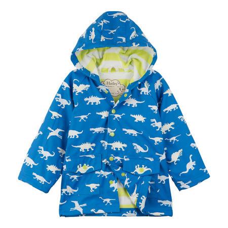 Boys Dinosaur Coat Blue
