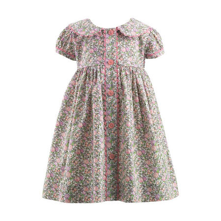 Rose Print Dress Pink