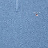 Honeycomb Half-Zip Sweatshirt Blue