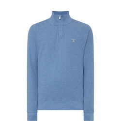 Honeycomb Half-Zip Sweatshirt Blue