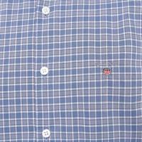 Broadcloth Check Shirt Blue