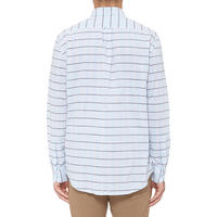 Long Sleeve Madras Shirt Blue