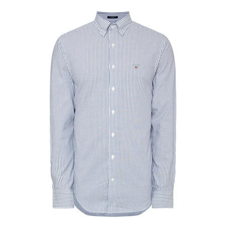 Tech Prep Regular Stripe Oxford Shirt Blue