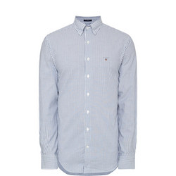 Tech Prep Regular Stripe Oxford Shirt Blue
