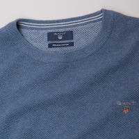 Pique Crew Neck Sweater Blue