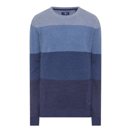 Tonal Stripe Sweater Blue