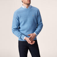 Wave Texture Sweater Blue
