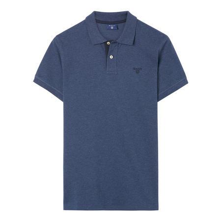 Contrast Collar Polo Shirt Navy