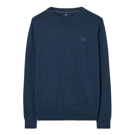 Lightweight Cotton Crew Neck Sweater Navy