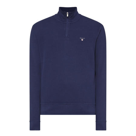 Honeycomb Half-Zip Sweatshirt Navy