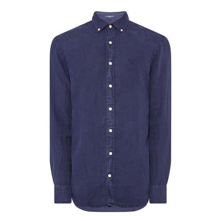 Linen Casual Shirt Navy