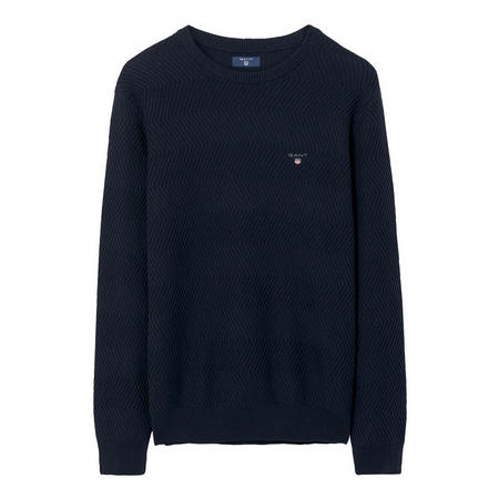 Wave Texture Sweater Navy