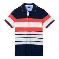 Multi-Stripe Polo Shirt Orange
