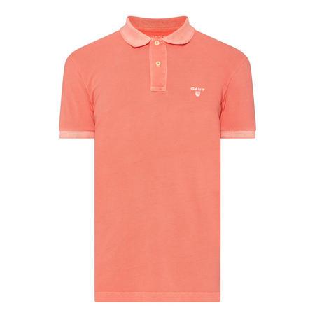Sunbleach Pique Polo Shirt Orange