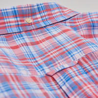 Indian Madras Check Shirt Orange