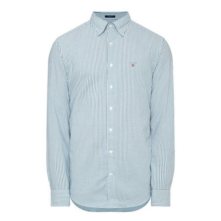 Tech Prep Striped Oxford Shirt Green