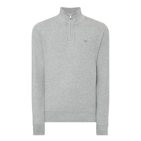 Honeycomb Half-Zip Sweatshirt Grey