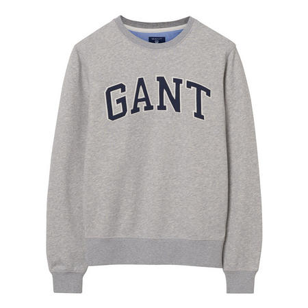 Logo Crew Neck Sweat Top Grey