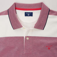 Block Stripe Rugby Polo Shirt Pink