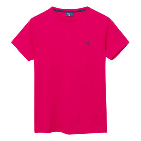 Classic Short Sleeve Crew Neck T-Shirt Pink
