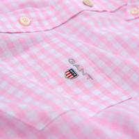 Short Sleeve Oxford Gingham Shirt Pink
