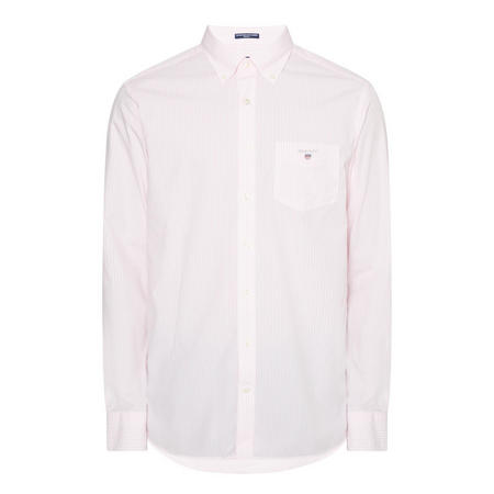 Regular Broadcloth Banker Shirt Pink