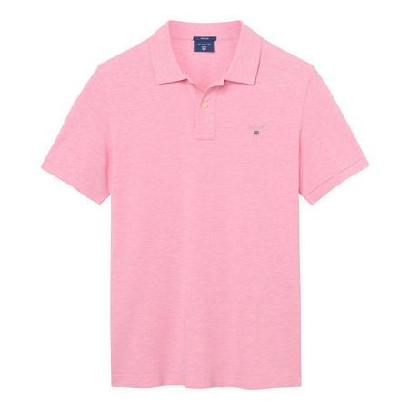 Short Sleeve Pique Polo Shirt Pink