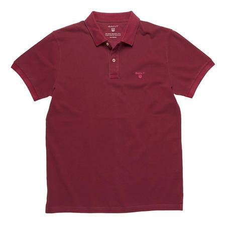 Sunbleach Pique Polo Shirt Red