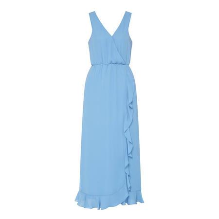 Limon Ruffle Detail Dress Blue