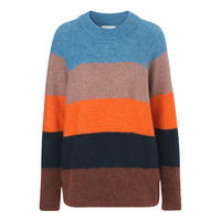 Colour Block Alpaca Merino Sweater Multicolour