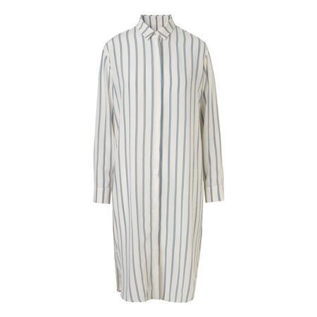 Bristo Silk Shirt Dress Cream