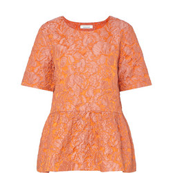 Cybill Peplum Top Orange